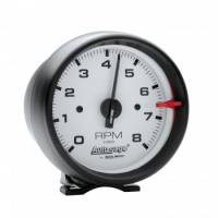Standard Tachometers - Pedestal Standard Tachs - Auto Meter - Auto Gage White Face Tachometer -3-3/4""