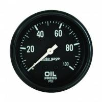 Oil Pressure Gauges - Mechanical Oil Pressure Gauges - Auto Meter - Auto Gage Oil Pressure Gauge - 2-5/8""