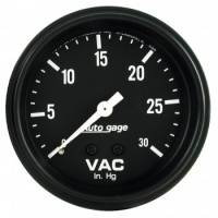 Analog Gauges - Vacuum Gauges - Auto Meter - Auto Gage Vacuum Gauge - 2-5/8""