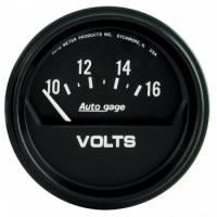 "Gauges - Voltmeters - Auto Meter - Auto Gage Electric Voltmeter Gauge - 2-5/8"""