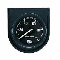 Oil Pressure Gauges - Mechanical Oil Pressure Gauges - Auto Meter - Auto Gage Oil Pressure Gauge Panel - 2-1/16""