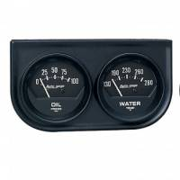 Auto Meter - Auto Gage Black Oil / Water Black Console - 2-1/16 in.
