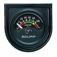 Oil Pressure Gauges - Electric Oil Pressure Gauges - Auto Meter - Auto Gage Electric Oil Pressure Gauge - 1-1/2""