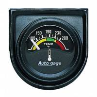 Analog Gauges - Water Temperature Gauges - Auto Meter - Auto Gage Electric Water Temperature Gauge - 1-1/2""