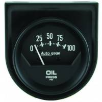 Oil Pressure Gauges - Mechanical Oil Pressure Gauges - Auto Meter - Auto Gage Mechanical Oil Pressure Gauge - 2-1/16""
