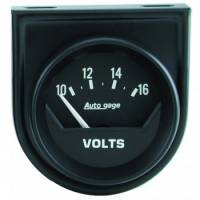 "Gauges - Voltmeters - Auto Meter - Auto Gage Electric Voltmeter Gauge - 2-1/16"""