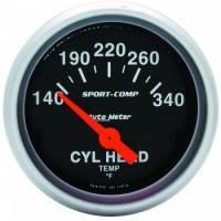 Analog Gauges - Cylinder Head Temperature Gauges - Auto Meter - Auto Meter Sport-Comp Electric Cylinder Head Temperature Gauge - 2-1/16 in.