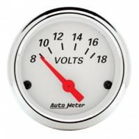 "Gauges - Voltmeters - Auto Meter - Auto Meter Arctic White Voltmeter Gauge - 2-1/16"""