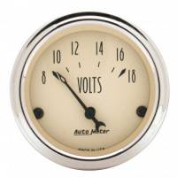Analog Gauges - Voltmeters - Auto Meter - Auto Meter Antique Beige Voltmeter Gauge - 2-1/16""