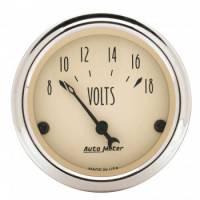 """Gauges - Voltmeters - Auto Meter - Auto Meter Antique Beige Voltmeter Gauge - 2-1/16"""""""