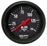 Analog Gauges - Air Pressure Gauges - Auto Meter - Auto Meter Z-Series Mechanical Air Pressure Gauge - 2-1/16 in.