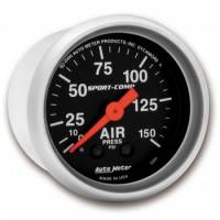 Air Pressure Gauges - Mechanical Air Pressure Gauges - Auto Meter - Auto Meter Sport-Comp Mechanical Air Pressure Gauge - 2-1/16 in.
