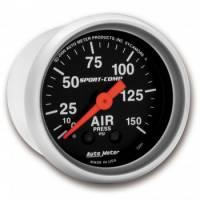 Analog Gauges - Air Pressure Gauges - Auto Meter - Auto Meter Sport-Comp Mechanical Air Pressure Gauge - 2-1/16 in.
