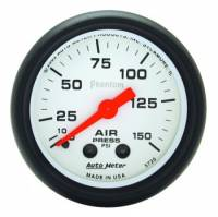 Air Pressure Gauges - Mechanical Air Pressure Gauges - Auto Meter - Auto Meter Phantom Mechanical Air Pressure Gauge - 2-1/16 in.