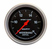 Analog Gauges - Air/Fuel Ratio Gauges - Auto Meter - Auto Meter 2-5/8 Sport-Comp Wideband Air/Fuel Gauge