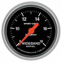 Gauges - Air Fuel Ratio Gauges - Auto Meter - Auto Meter 2-1/16 Sport-Comp Wideband Pro Air/Fuel Gauge