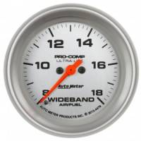 "Analog Gauges - Air/Fuel Ratio Gauges - Auto Meter - Auto Meter 2-5/8"" Ultra-Lite Wideband Air/Fuel Ratio Gauge"