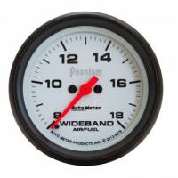 Analog Gauges - Air/Fuel Ratio Gauges - Auto Meter - Auto Meter 2-5/8 Phantom Wideband Air/Fuel Gauge