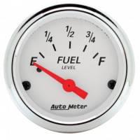 Gauges - Fuel Level Gauges - Auto Meter - Auto Meter Arctic White Fuel Level Gauge - 2-1/16 in.