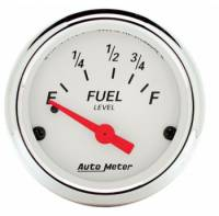 Gauges - Fuel Level Gauges - Auto Meter - Auto Meter Arctic White Fuel Level Gauge - 2-1/16 in.