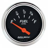 Gauges - Fuel Level Gauges - Auto Meter - Auto Meter 2-1/16 Designer Black Fuel Level Gauge 0-90 Ohms