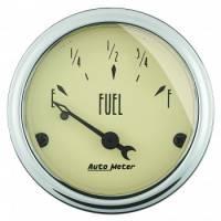 Gauges - Fuel Level Gauges - Auto Meter - Auto Meter Antique Beige Fuel Level Gauge - 2-1/16 in.