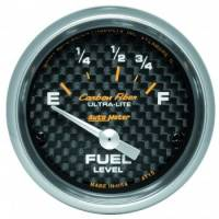 Gauges - Fuel Level Gauges - Auto Meter - Auto Meter Carbon Fiber Electric Fuel Level Gauge - 2-1/16 in.