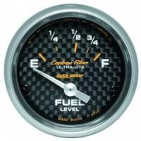 Gauges - Fuel Level Gauges - Auto Meter - Auto Meter Carbon Fiber Electric Fuel Level Gauge - 2-1/16 in.