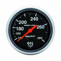 Analog Gauges - Oil Temperature Gauges - Auto Meter - Auto Meter 140-280  Sport-Comp Oil Temperature Gauge - 2-5/8""