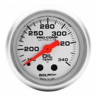 "Analog Gauges - Oil Temperature Gauges - Auto Meter - Auto Meter Mini Ultra-Lite Oil Tank Temperature Gauge - 2-1/16"" - 140-340"