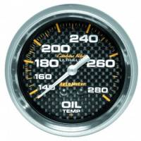 "Analog Gauges - Oil Temperature Gauges - Auto Meter - Auto Meter Carbon Fiber Oil Temperature Gauge - 2-5/8"" - 140-280 F"