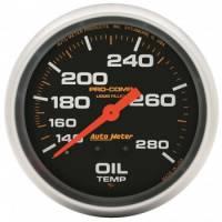 "Oil Temp Gauges - Mechanical Oil Temp Gauges - Auto Meter - Auto Meter Pro-Comp Liquid Filled Oil Temperature Gauge - 2-5/8"" - 140°-280°"