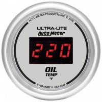 Gauges - Digital Oil Pressure Gauges - Auto Meter - Auto Meter Ultra-Lite Digital Oil Temperature Gauge - 2-1/16 in.