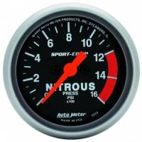Air & Fuel System - Auto Meter - Auto Meter Sport-Comp Electric Nitrous Pressure Gauge - 2-1/16 in.