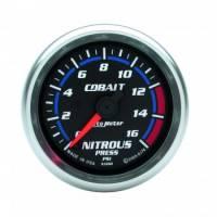 Nitrous Oxide Pressure Gauge - Electric Nitrous Oxide Pressure Gauges - Auto Meter - Auto Meter Cobalt Electric Nitrous Pressure Gauge - 2-1/16 in.