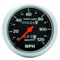 Speedometers - Mechanical Speedometers - Auto Meter - Auto Meter Sport-Comp In-Dash Mechanical Speedometer - 3-3/8 in.