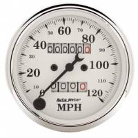 Speedometers - Mechanical Speedometers - Auto Meter - Auto Meter Old Tyme White Mechanical Speedometer - 3-1/8 in.
