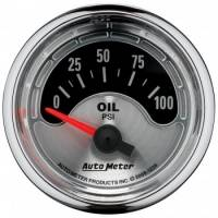 Oil Pressure Gauges - Electric Oil Pressure Gauges - Auto Meter - Auto Meter American Muscle Oil Pressure Gauge - 2-1/16""