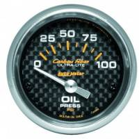 "Gauges - Oil Pressure Gauges - Auto Meter - Auto Meter Carbon Fiber Electric Oil Pressure Gauge - 2-1/16"" - 0-100 PSI"