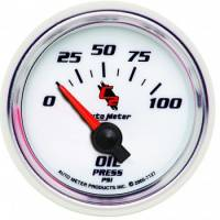 Oil Pressure Gauges - Electric Oil Pressure Gauges - Auto Meter - Auto Meter C2 Electric Oil Pressure Gauge - 2-1/16""