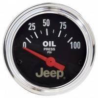 Analog Gauges - Oil Pressure Gauges - Auto Meter - Auto Meter 2-1/16 Oil Pressure Gauge - Jeep Series