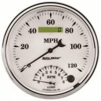 Tachometers - Tachometer / Speedometer Combos - Auto Meter - Auto Meter Old Tyme White II Tachometer /Speedometer Combo - 5 in.