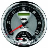 Tachometers - Tachometer / Speedometer Combos - Auto Meter - Auto Meter American Muscle Tachometer / Speedometer Combo - 5 in.