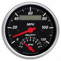 Tachometers - Tachometer / Speedometer Combos - Auto Meter - Auto Meter Designer Black Tachometer / Speedometer Combo - 3-3/8 in.