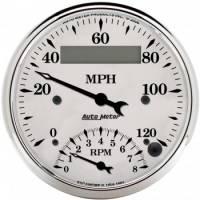 Tachometers - Tachometer / Speedometer Combos - Auto Meter - Auto Meter Old Tyme White Tachometer / Speedometer Combo - 3-3/8 in.