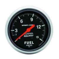 """Gauges & Gauge Panels - Fuel Pressure Gauge - Auto Meter - Auto Meter 1-15 PSI Sport-Comp Fuel Pressure Gauge - 2-5/8"""""""