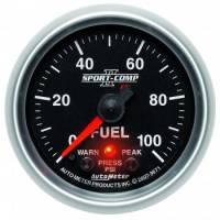 "Fuel Pressure Gauges - Electric Fuel Pressure Gauges - Auto Meter - Auto Meter Sport-Comp PC Fuel Pressure Gauge - 2-1/16"""