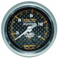 "Fuel Pressure Gauges - Mechanical Fuel Pressure Gauges - Auto Meter - Auto Meter Carbon Fiber Fuel Pressure Gauge - 2-1/16"" - 0-15 PSI"