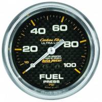"Fuel Pressure Gauges - Mechanical Fuel Pressure Gauges - Auto Meter - Auto Meter Carbon Fiber Fuel Pressure Gauge - 2-5/8"" - 0-15 PSI"