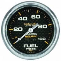 """Gauges & Gauge Panels - Fuel Pressure Gauge - Auto Meter - Auto Meter Carbon Fiber Fuel Pressure Gauge - 2-5/8"""" - 0-15 PSI"""
